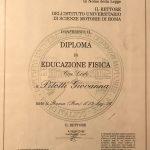 diploma Isef giovanna pitotti nutrizionista Roma medicina e nutrizione funzionale